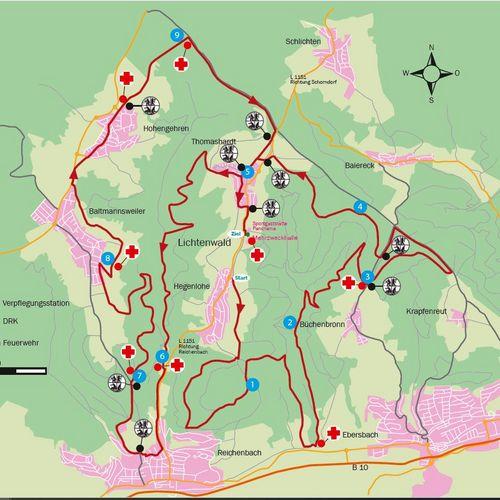 Verpflegungspunkte und DRK Stationen